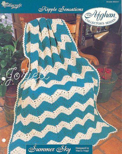 Summer Sky Afghan Ripple Sensations Crochet Pattern Ebay Crochet