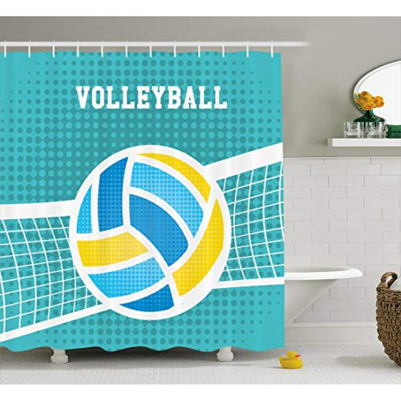 Printawe Volleyball Shower Curtain