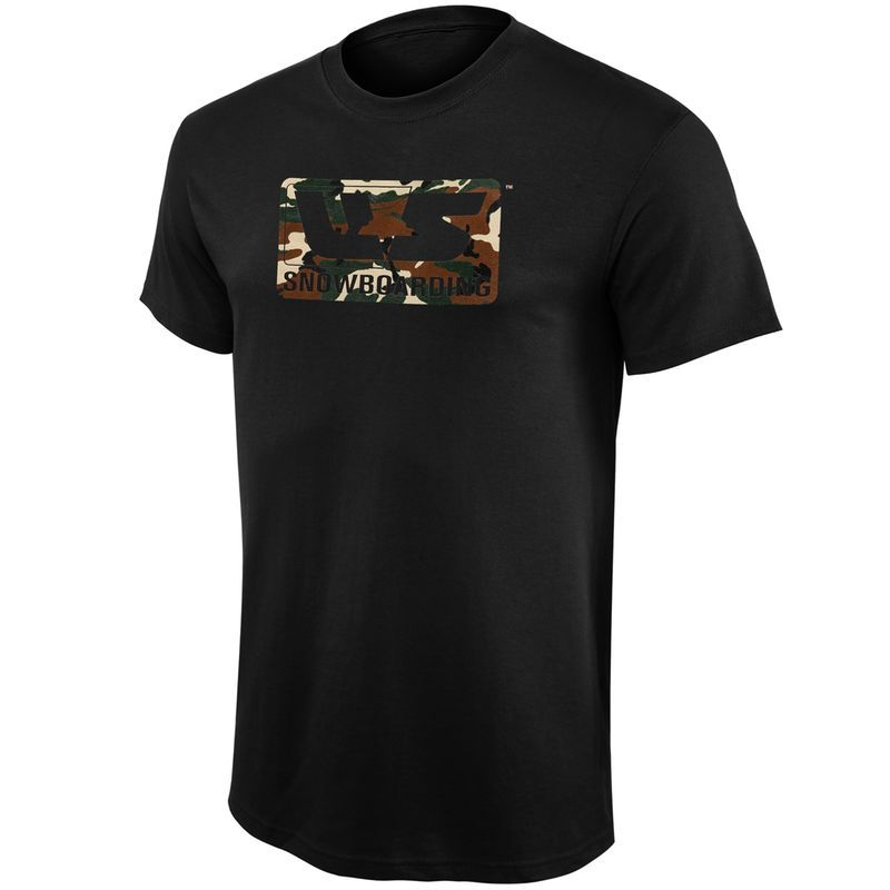 U.S. Snowboarding Youth Green Camo T-Shirt - Black