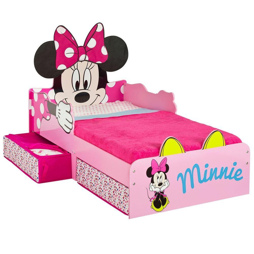 Minnie Mouse Toddler Bed With Underbed Storage Kids Girls Mattress Options Home Fur Minnie Mouse Bedding Minnie Mouse Bedroom Minnie Mouse Toddler Bedding Cheap toddler bed with mattress included