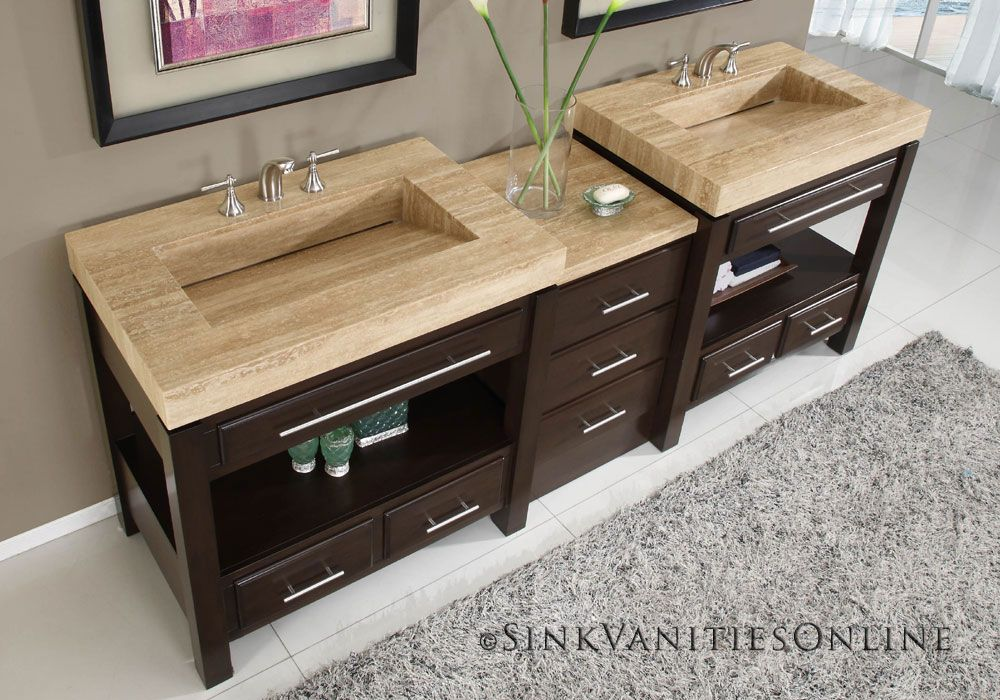 Unusual Bathroom Furniture. Bathroom Vanities With Integrated Sinks Have  Gained Popularity A Distinct Sense Of