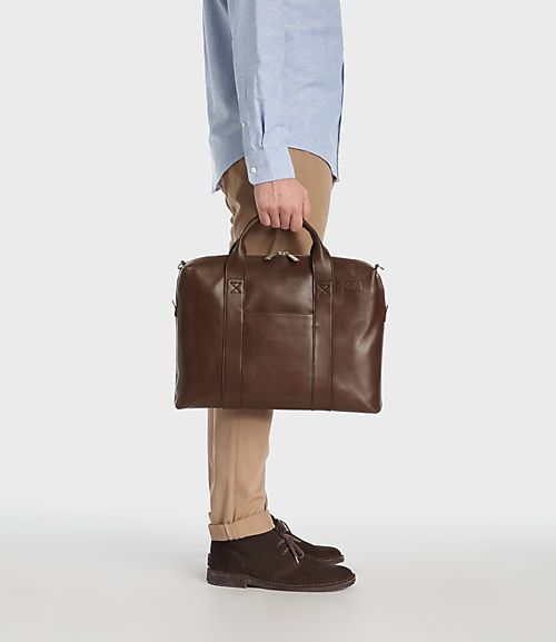MILL LEATHER DAVIS BRIEF Chocolate $425.00