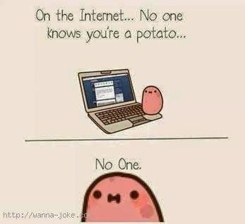 nooooo my secret is revealed kawaii potato cute potato funny comics pinterest