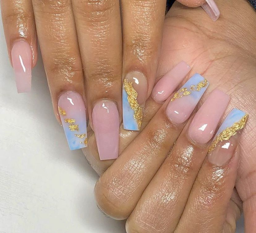 Pinterest Truubeautys Pinteresttruubeautys In 2020 Gender Reveal Nails Fire Nails Pretty Nail Designs