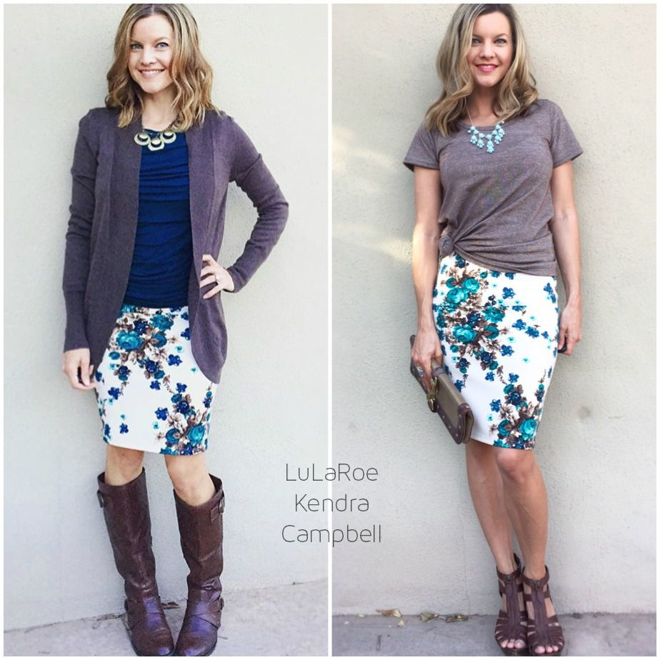 2f310ce486a LulaRoe Cassie Skirt. This skirt is fantastic. I love the statement  necklace on the right too.