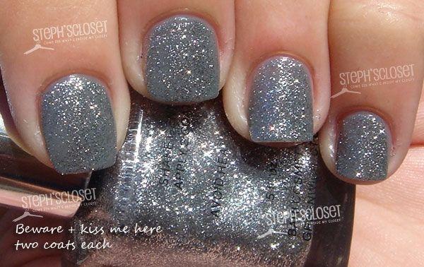 Pure Ice Beware Nail Polish Over Grey