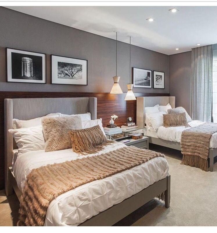 Chambre à coucher adulte u2013 127 idées de designs modernes - papier peint pour chambre a coucher