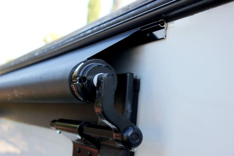 Solera Rv Slide Out Awning 5 1 Wide 48 Projection Black Lippert Components Rv Awnings Lcv000 Rv Black Hardware Awning