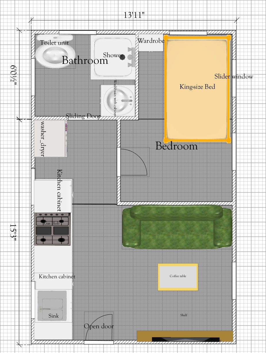 Tiny House Plan Under 300 Sq Ft Free Tiny House Floor Plan In 2020 Tiny House Floor Plans Tiny House Plan Tiny House Plans Free