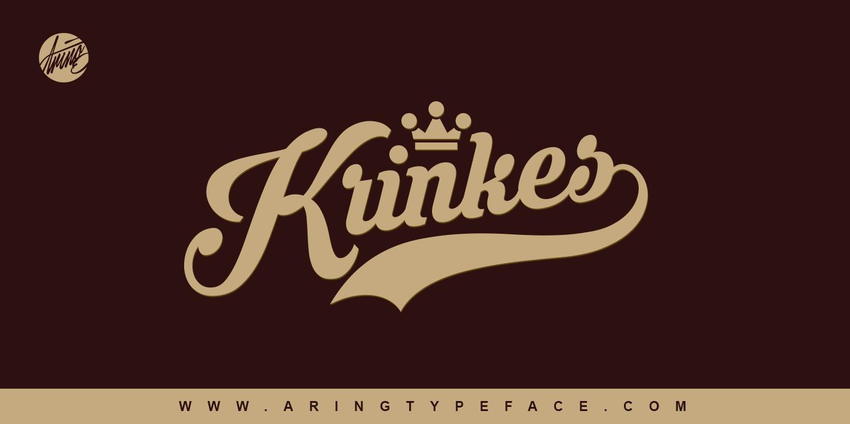 Krinkes Mans Greback Lettertypes Lettertypen