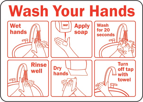 Bathroom Signs Wash Hands wash your hands signsafetysign - d5814 | coloring