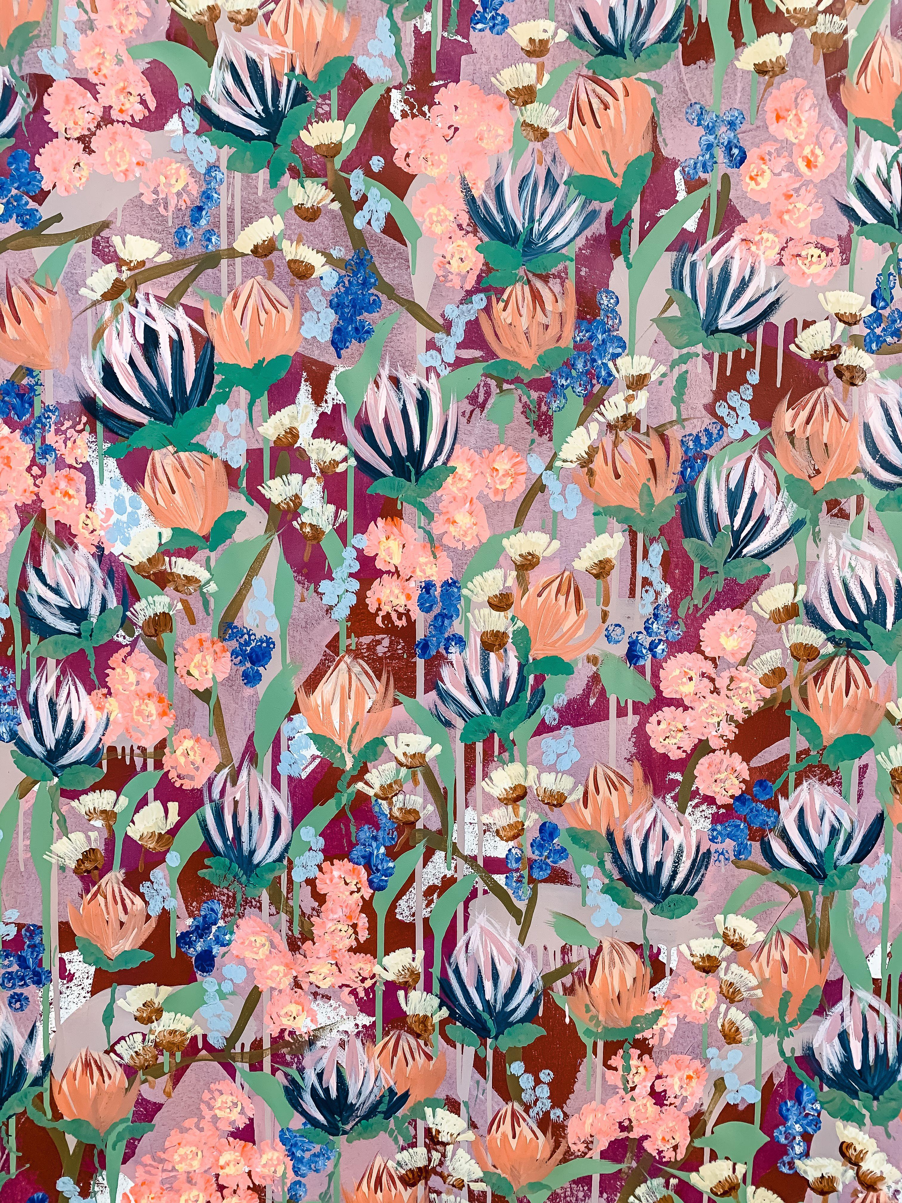 Australian Wildflower   Floral Canvas   Original A