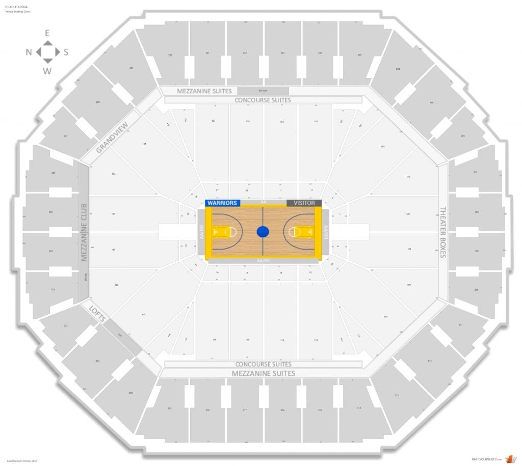 The Amazing Oakland Arena Seating Chart
