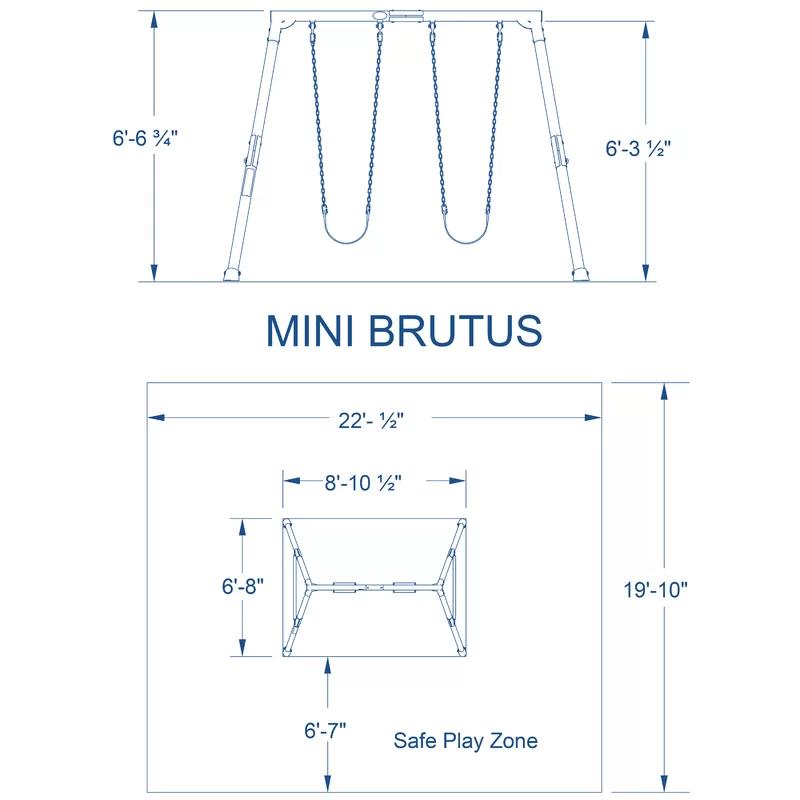 Backyard Discovery Mini Brutus Swing Set & Reviews   Wayfair
