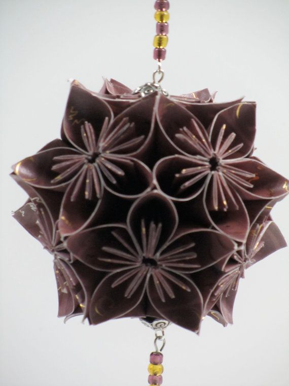 Ornament Home Décor KUSUDAMA Modular Origami by BoldFolds on Etsy, $45.00