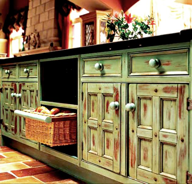 Two Tone Kitchen Cabinets Doors: Vintage Two Tone Kitchen Cabinet