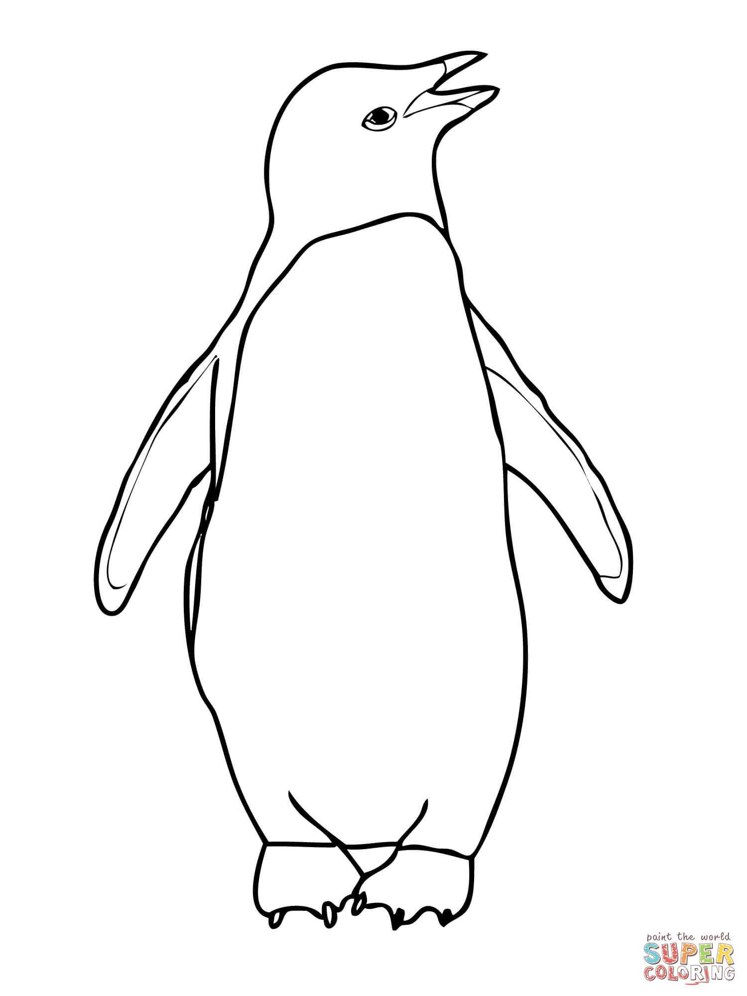 Adelie Penguin Coloring Page