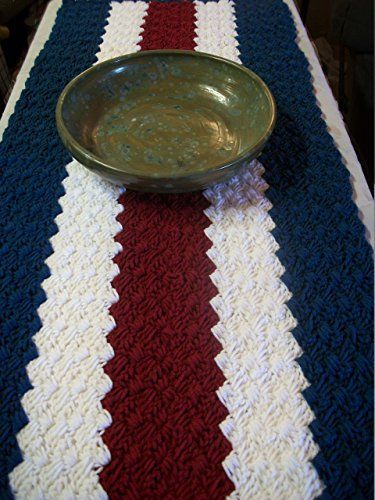 Wondrous Table Runner Patriotic Crochet Table Runner In Red White Home Interior And Landscaping Eliaenasavecom
