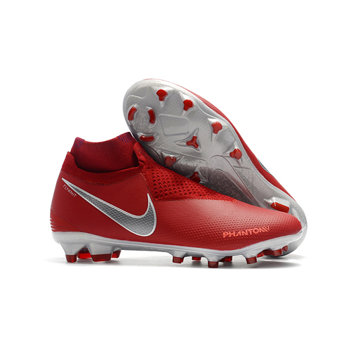 Nike Phantom Vision Elite DF FG Soccer Cleats-Red   Football ... afd5ec1ca83