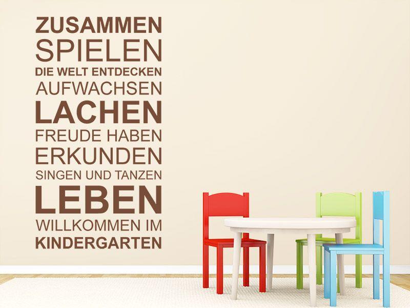 Mit Dem Wandtattoo Kindergarten Spruchband Kannst Du Deine Wand Kreativ Gestalten Kindergartenbeginn Kindergarten Kindergarten Willkommen