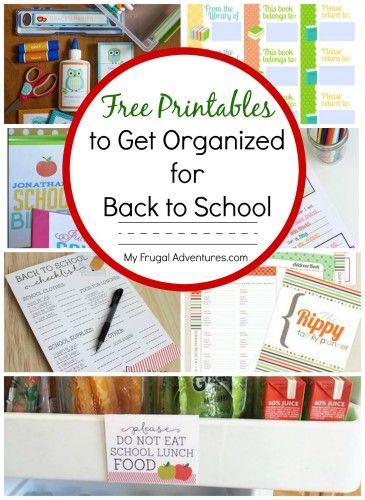 Back To School Organization Ideas | Homework Planner, Free
