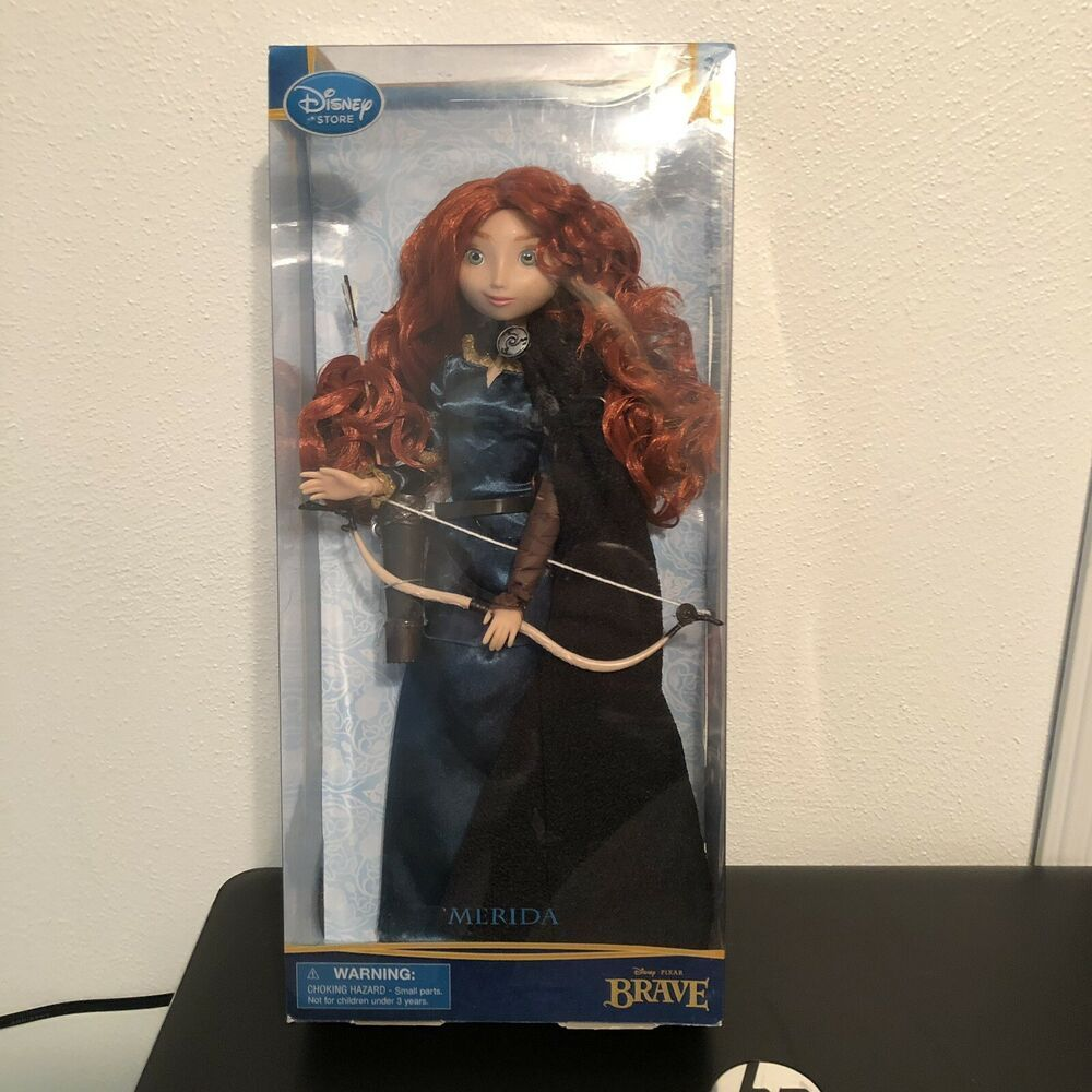 """DISNEY STORE MERIDA BRAVE TODDLER DOLL ~ FIRST EDITION 16/"""" ~ BRAND NEW IN BOX"""