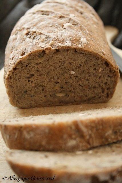 pain aux graines bio sans gluten sans lait sans oeufs. Black Bedroom Furniture Sets. Home Design Ideas