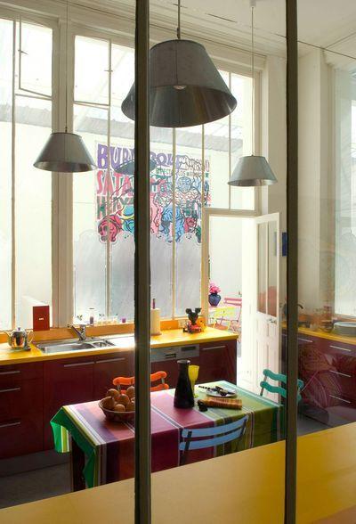 Verri re cuisine verri re int rieure verri re bois verri re acier house interiors - Cuisine verriere interieure ...
