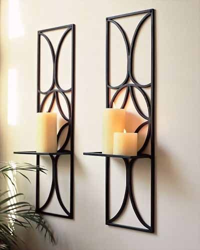 Wall Hanging Candle Holders decorative wall candle sconces | wall-mount candle holder