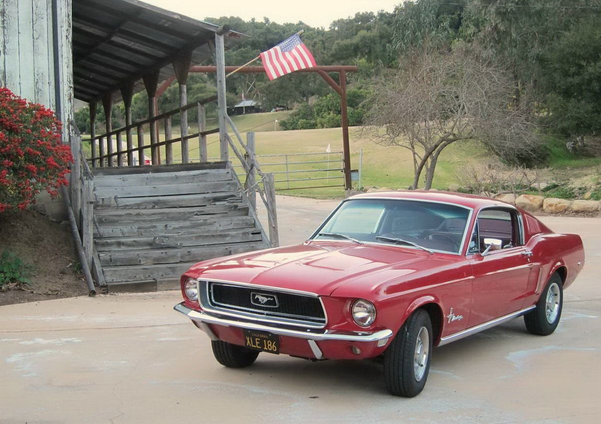 1968 mustang fastback candyapple red for sale cars 1968 mustang