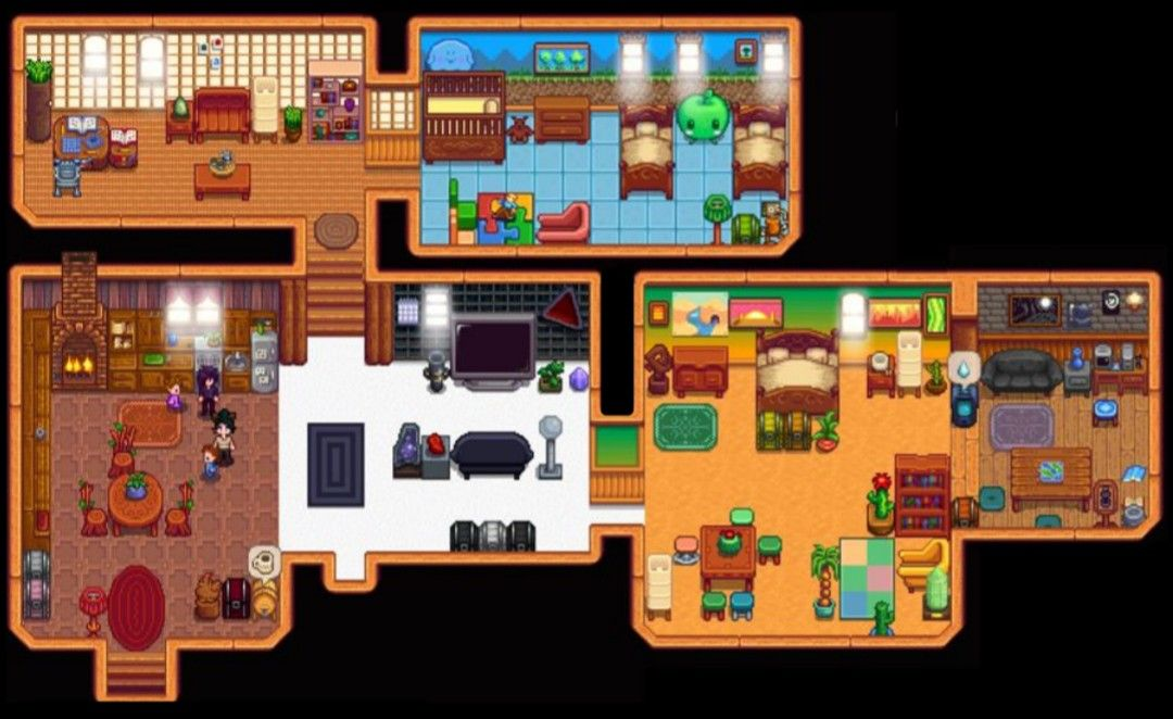 Full Farm House Interior - No Cellar Shown >Stardew Valley ...
