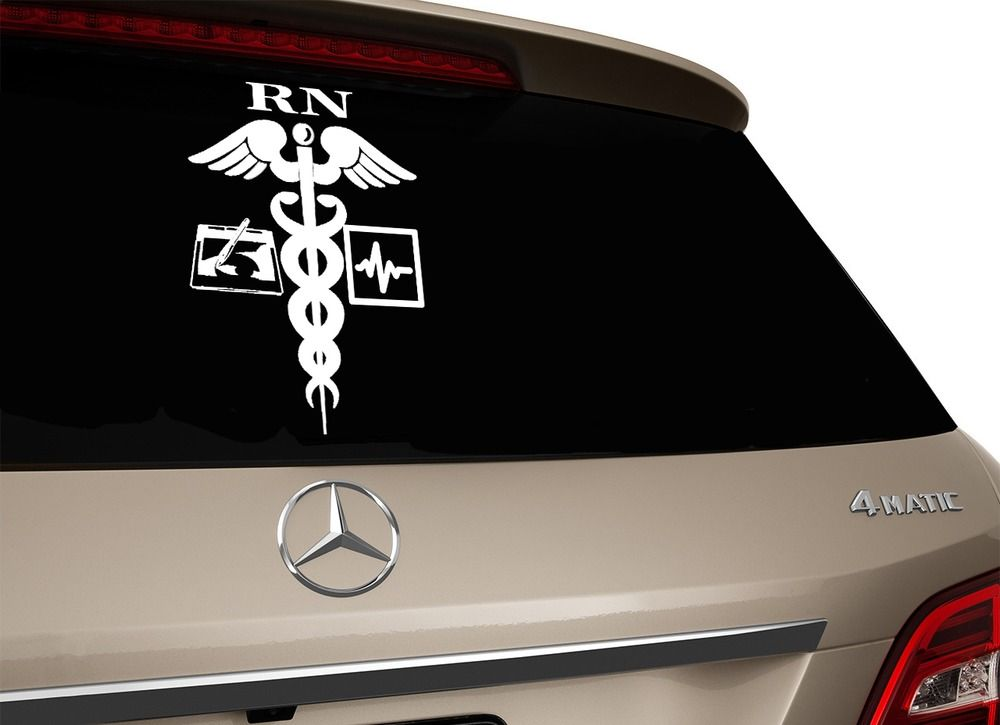 Rn logo window car decal registered nurse computer sticker ebay