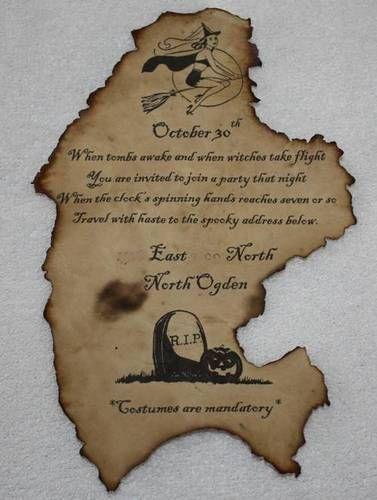 diy halloween invitations occasions and holidays halloween