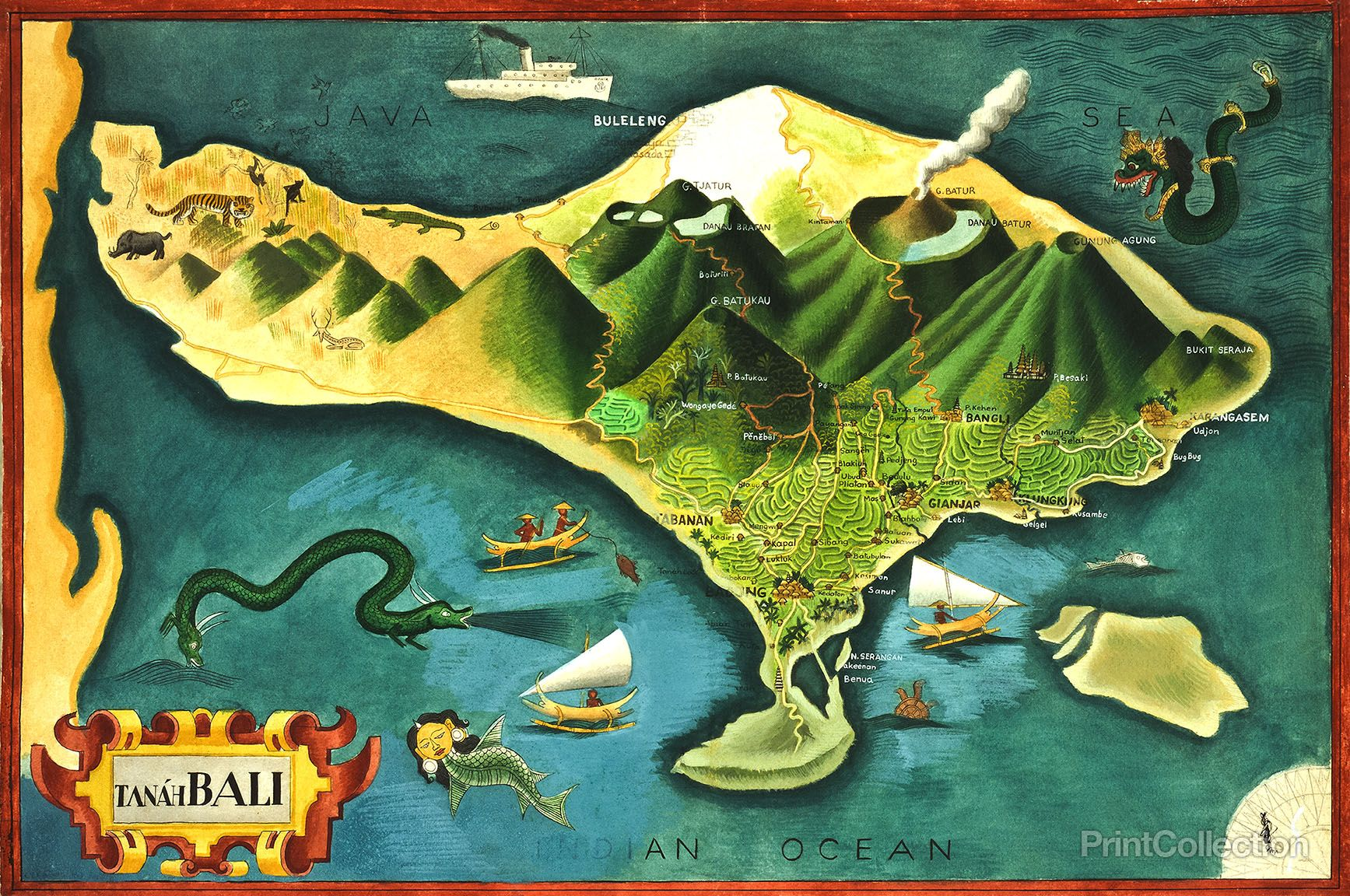 Map of bali indonesia volcano and bali indonesia map of bali gumiabroncs Gallery