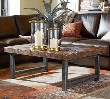 Griffin Reclaimed Wood Coffee Table Coffee Table Pottery Barn