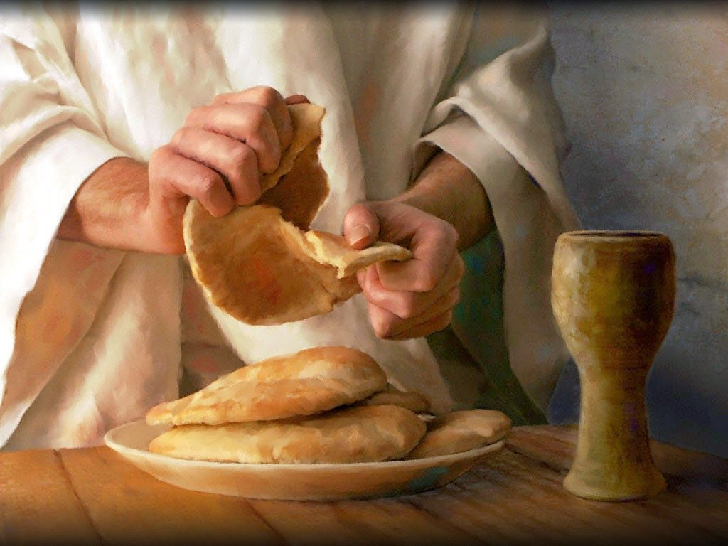Чаша и хлеб картинка