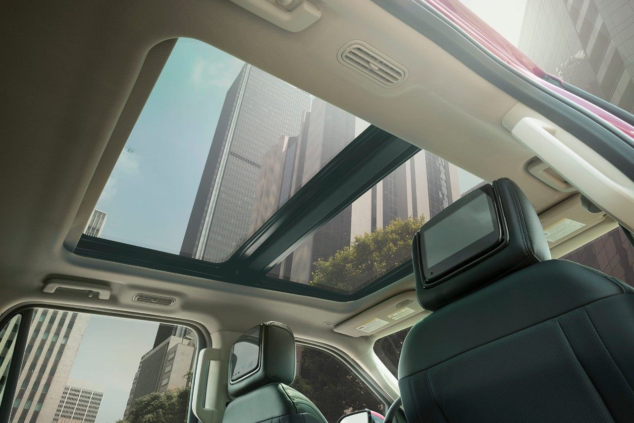 The 2018 Expedition with its panoramic Vista Roof. Ford