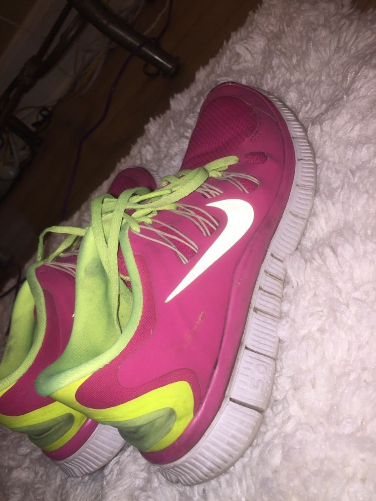 the best attitude 5cd5d ef326 Nike Free Run2 (443816-001) Womens Pink &Yellow Shoes Size 8 ...