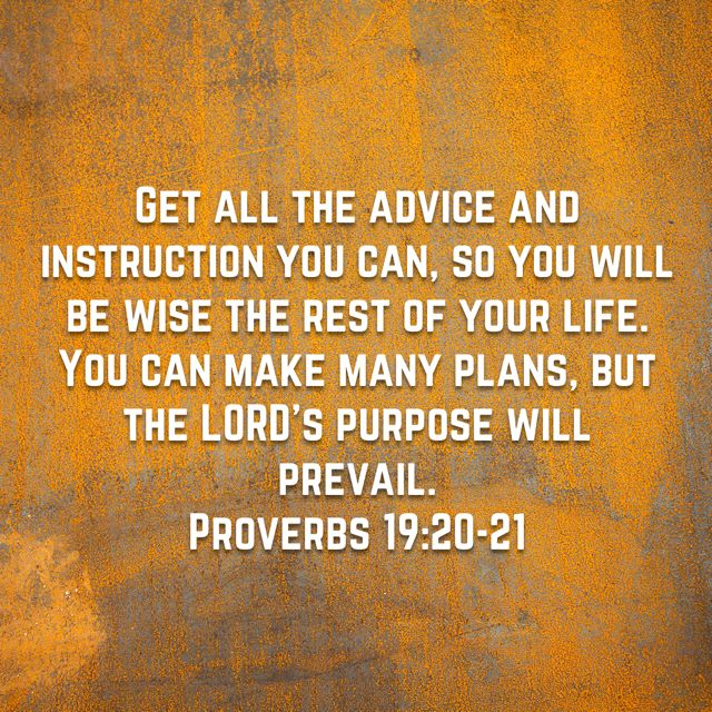 Proverbs 19:20-21 | More Of The Word | Proverbs 19, Holy