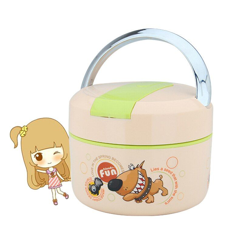 Insulated Lunch Bento Bag For Women Portable Thermal Cartoon Food Container Box