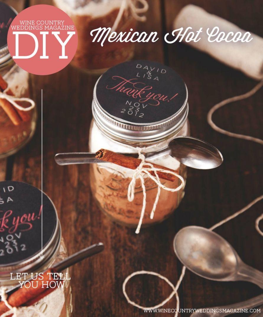 Wedding Magazine Subscription Gift: DIY Food Favor: Mexican Hot Cocoa
