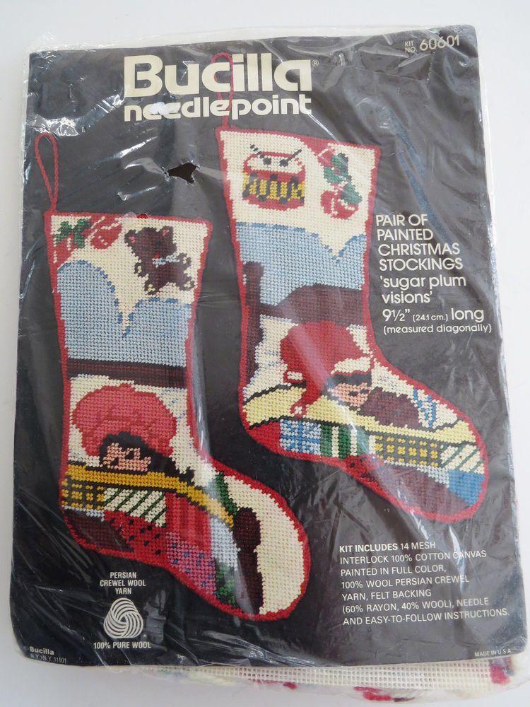 Bucilla Needlepoint Christmas Stocking Craft Kit 60601