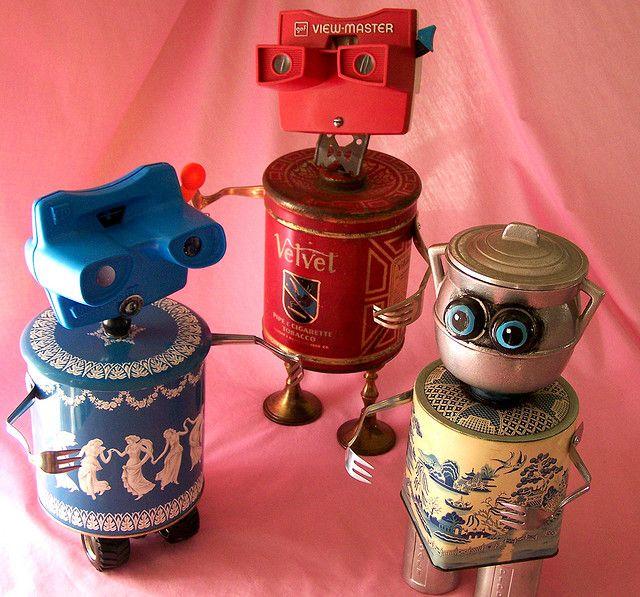 Robots de colores