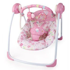 High Quality Bright Starts Pretty In Pink Blossomy Blooms Portable Swing   Nursery  Furniture U0026 Accessories   Nursery   Baby U0026 Toddler   The Warehouse