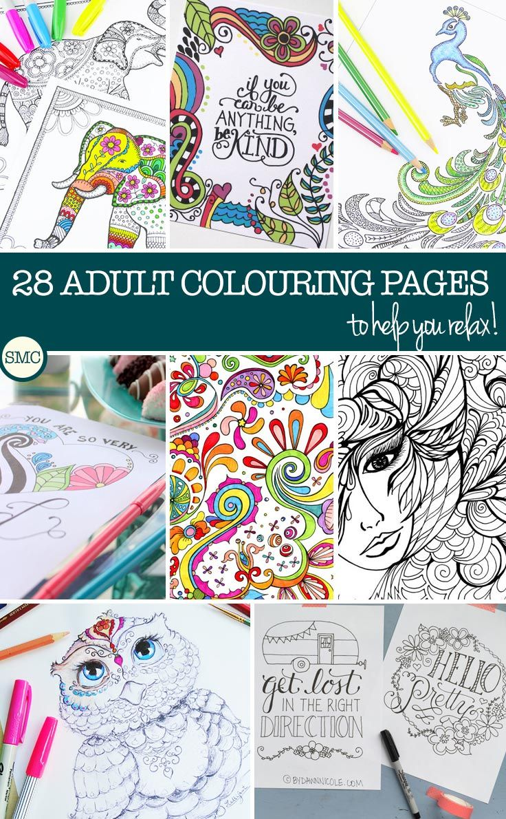 Swearing colouring in book nz - Amazing Adult Coloring Books Free Printable Pages To Try