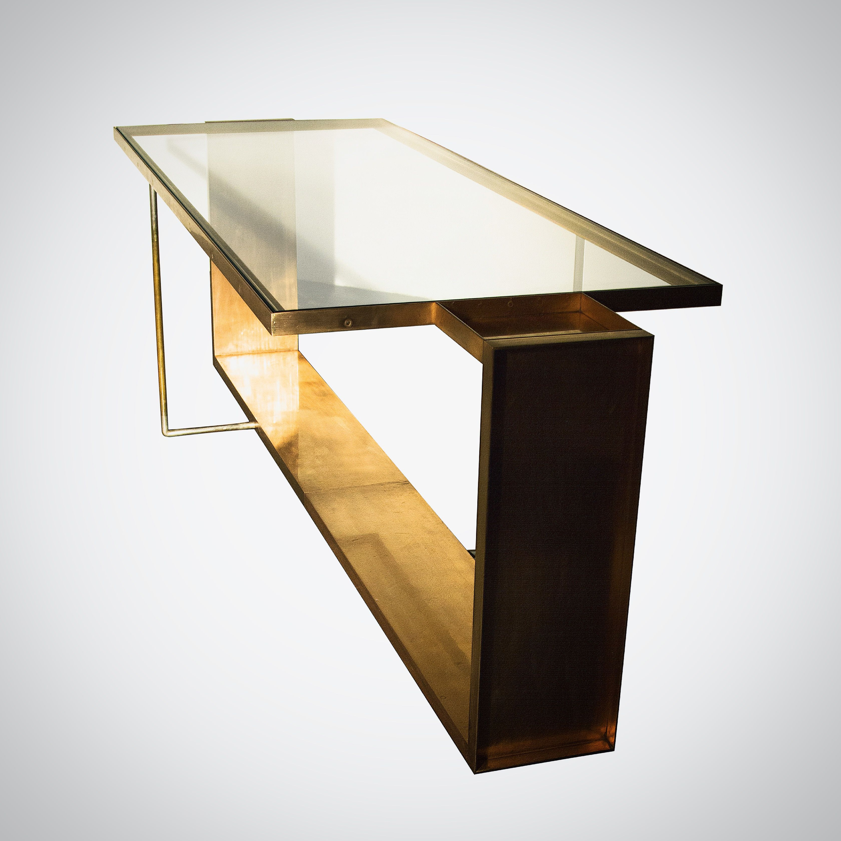 Juell By Privatiselectionem Com Side Table With Crystal Glass Top And Copper Plated Steel Structure Product Design By P Table Design Coffee Table Side Table [ 3360 x 3360 Pixel ]