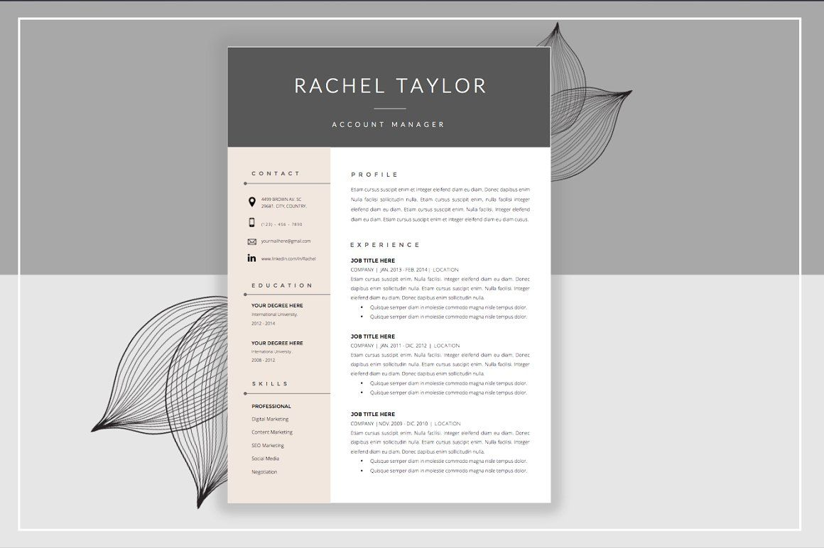 Resume Template  Cover Letter  Resumes  Resume Templates  Tips