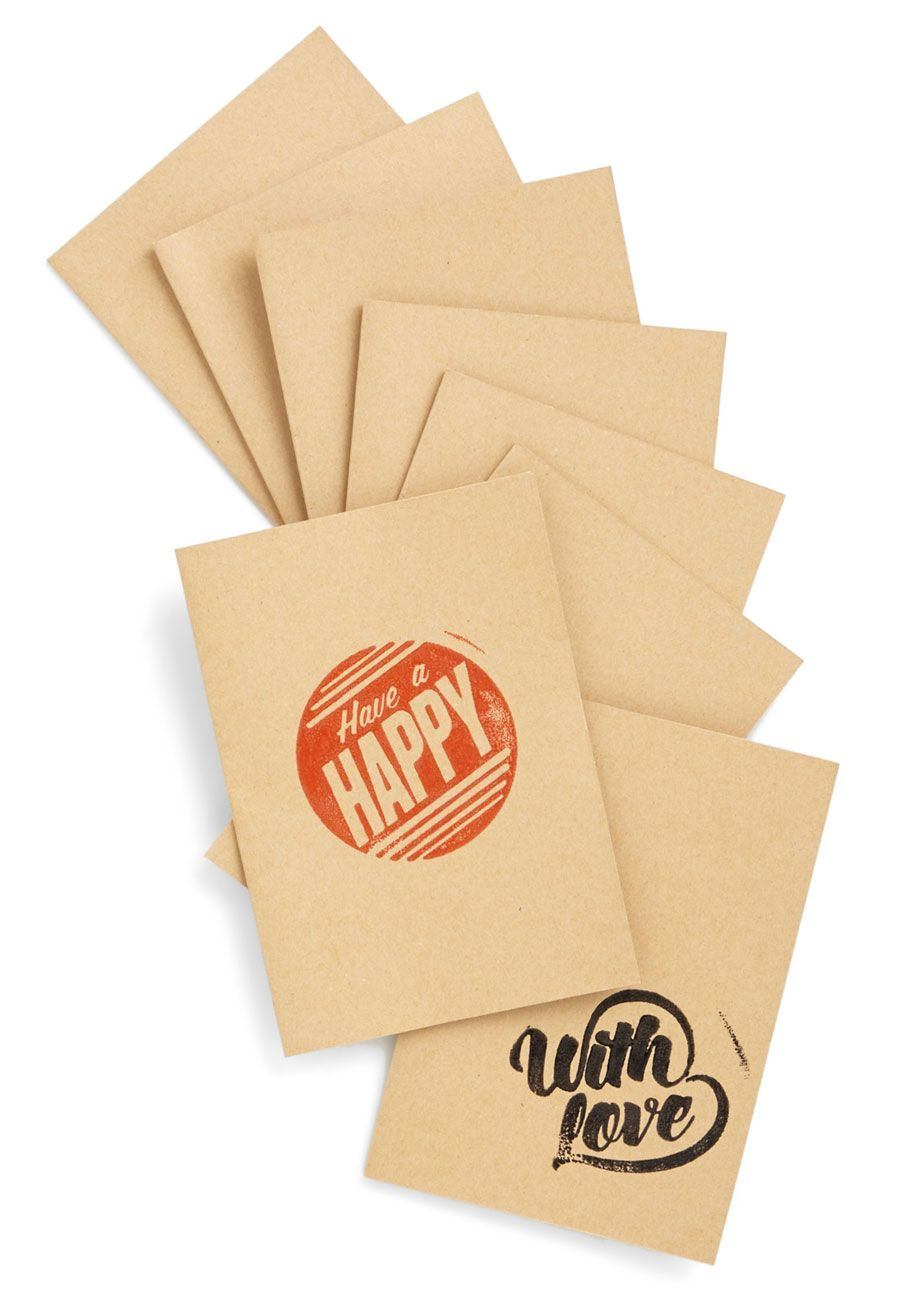 Stamp-lify Your Message Greeting Card Kit. Add a personalized touch to your correspondence with this neatly packaged DIY kit. #red #modcloth