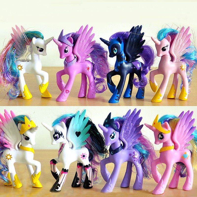 Nightmare Moon Princess Luna Celes My Little Pony Toys Figure Doll For Kids Gift Toys Hobbies Action Figures Tv Kawaii Unicorn Rainbow Kids Sparkle Pony