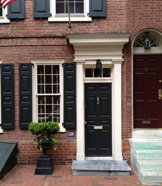 Door Inspiration Philadelphia Society Hill Historic